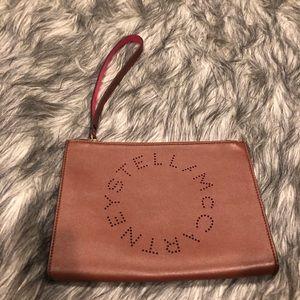 New Stella McCartney  Leather Wristlet clutch